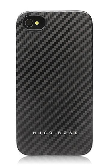 Hard Cover ´Carbon` für iPhone 4/4S, Schwarz