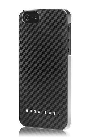 Hard Cover ´Carbon V` für iPhone 5, Schwarz