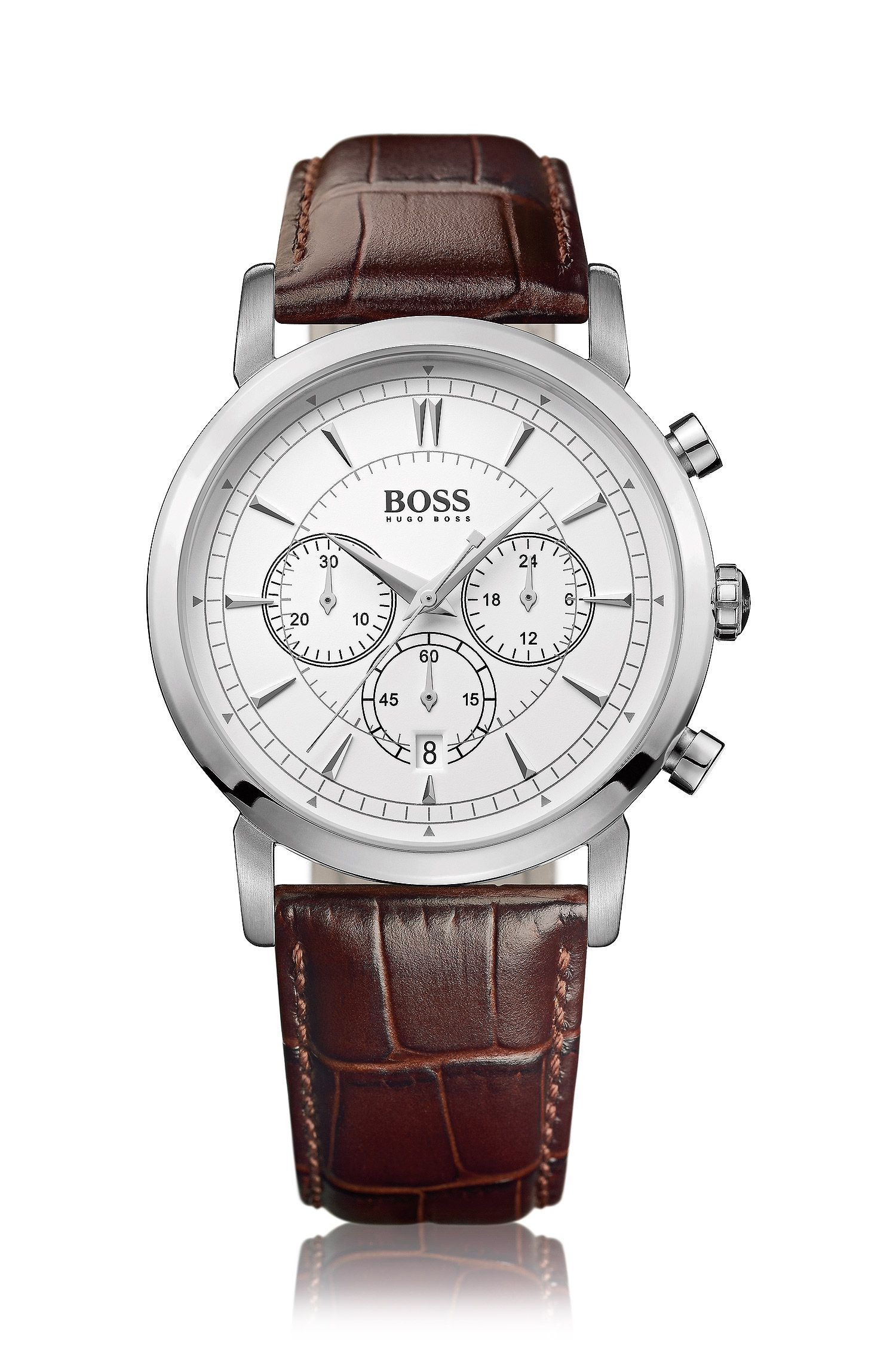 Men's chronograph 'HB1013' with a leather strap