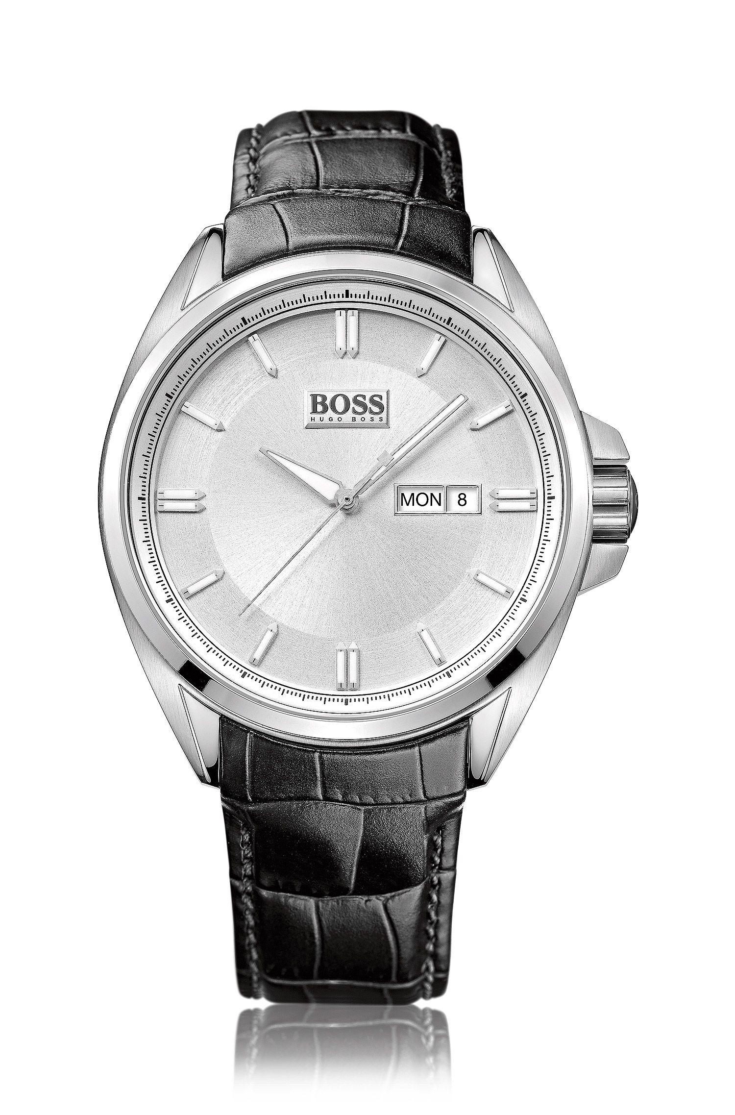 Montre-bracelet pour homme«HB301» avec boîtier en acier inoxydable
