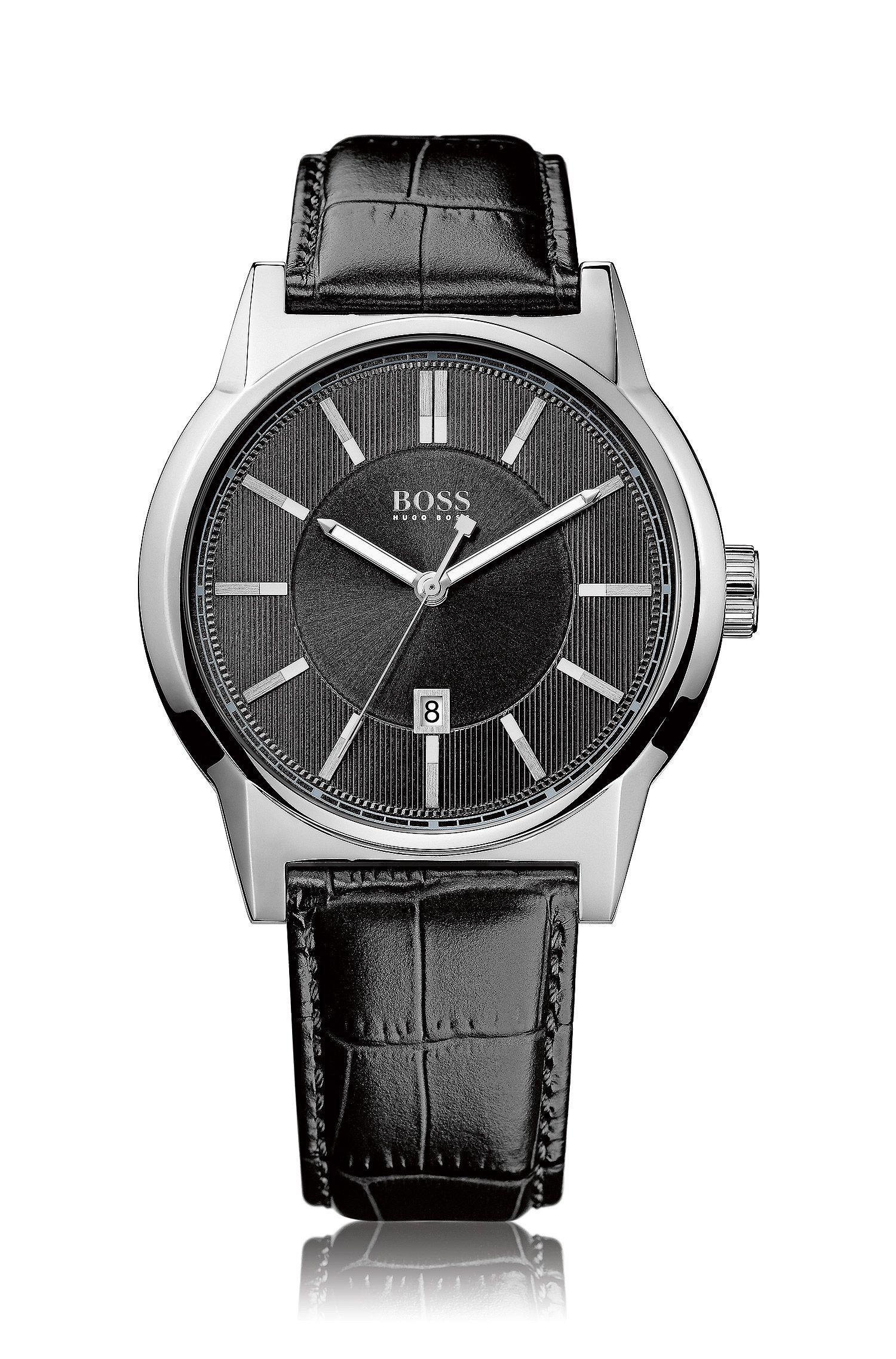 Montre-bracelet «HB6000» avec bracelet en cuir
