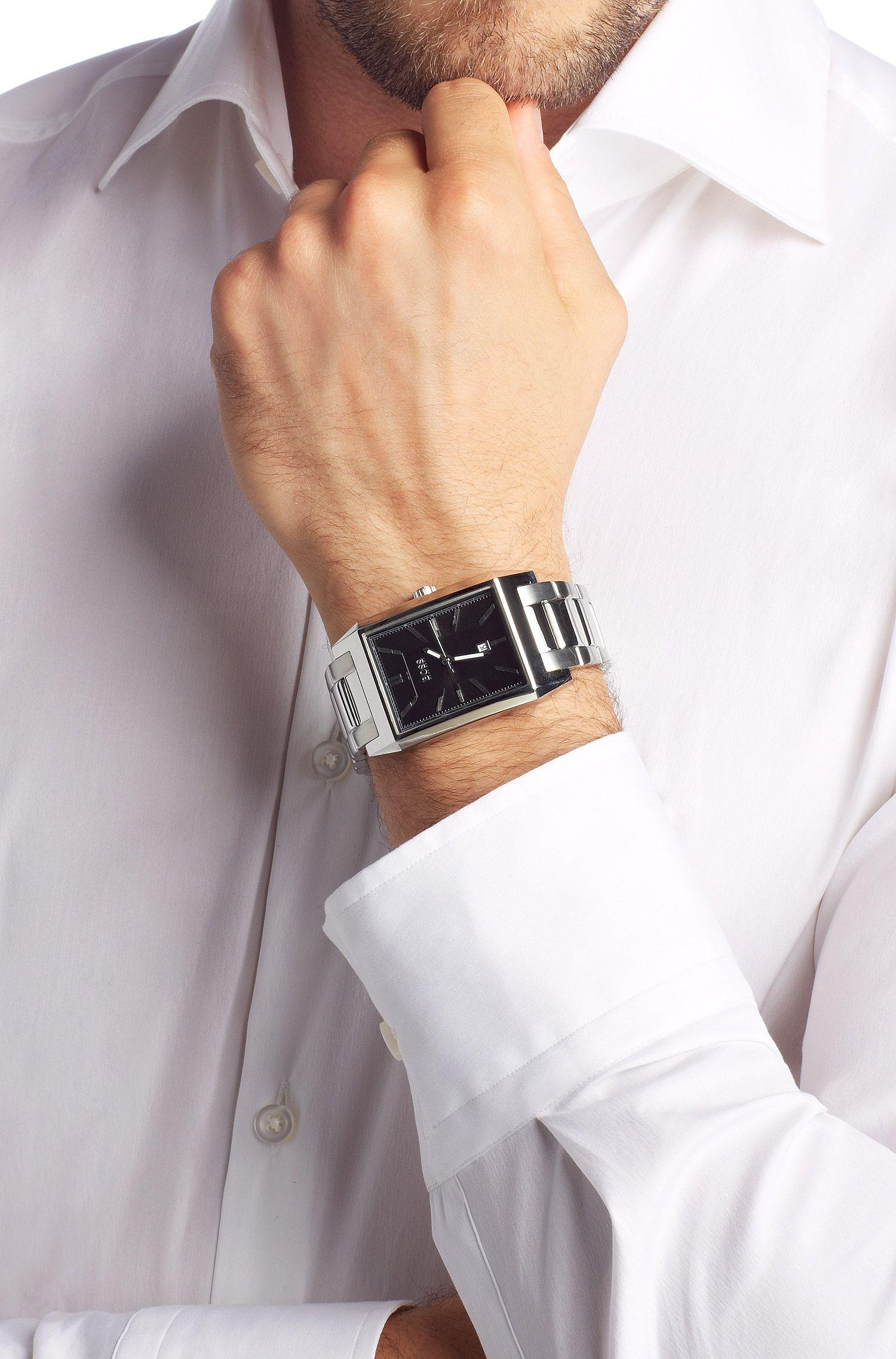 Herenhorloge 'HB6001' met roestvrijstalen armband