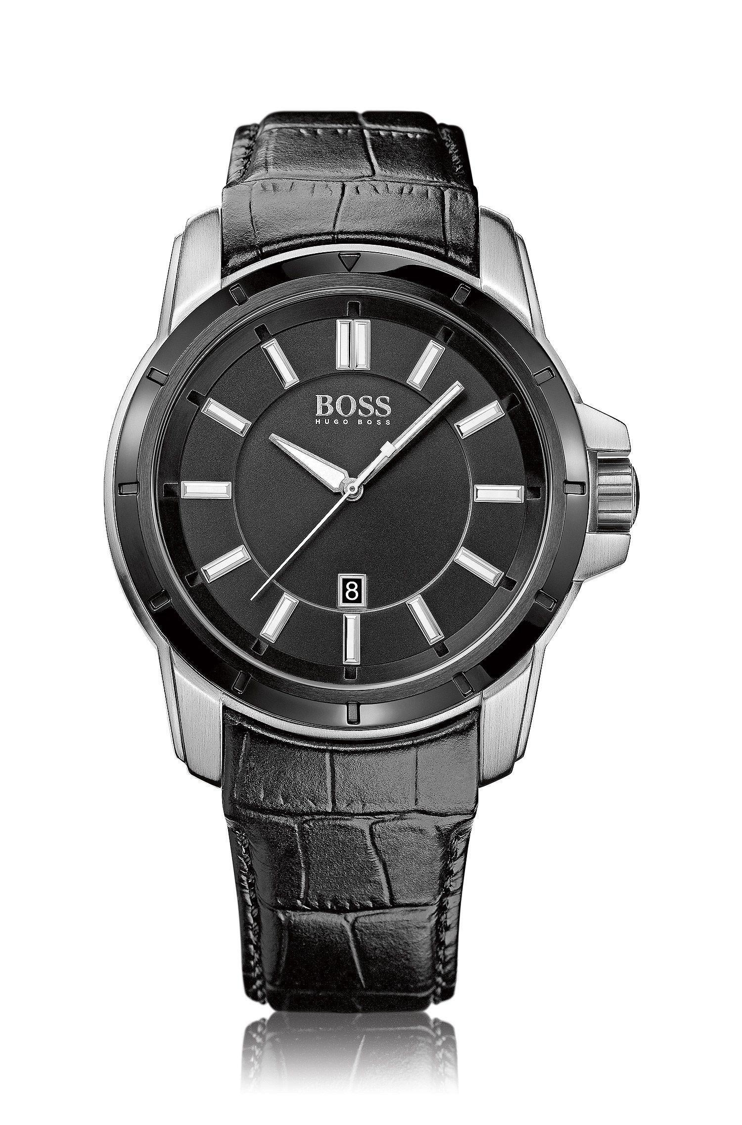 Montre-bracelet «HB302» avec bracelet en cuir