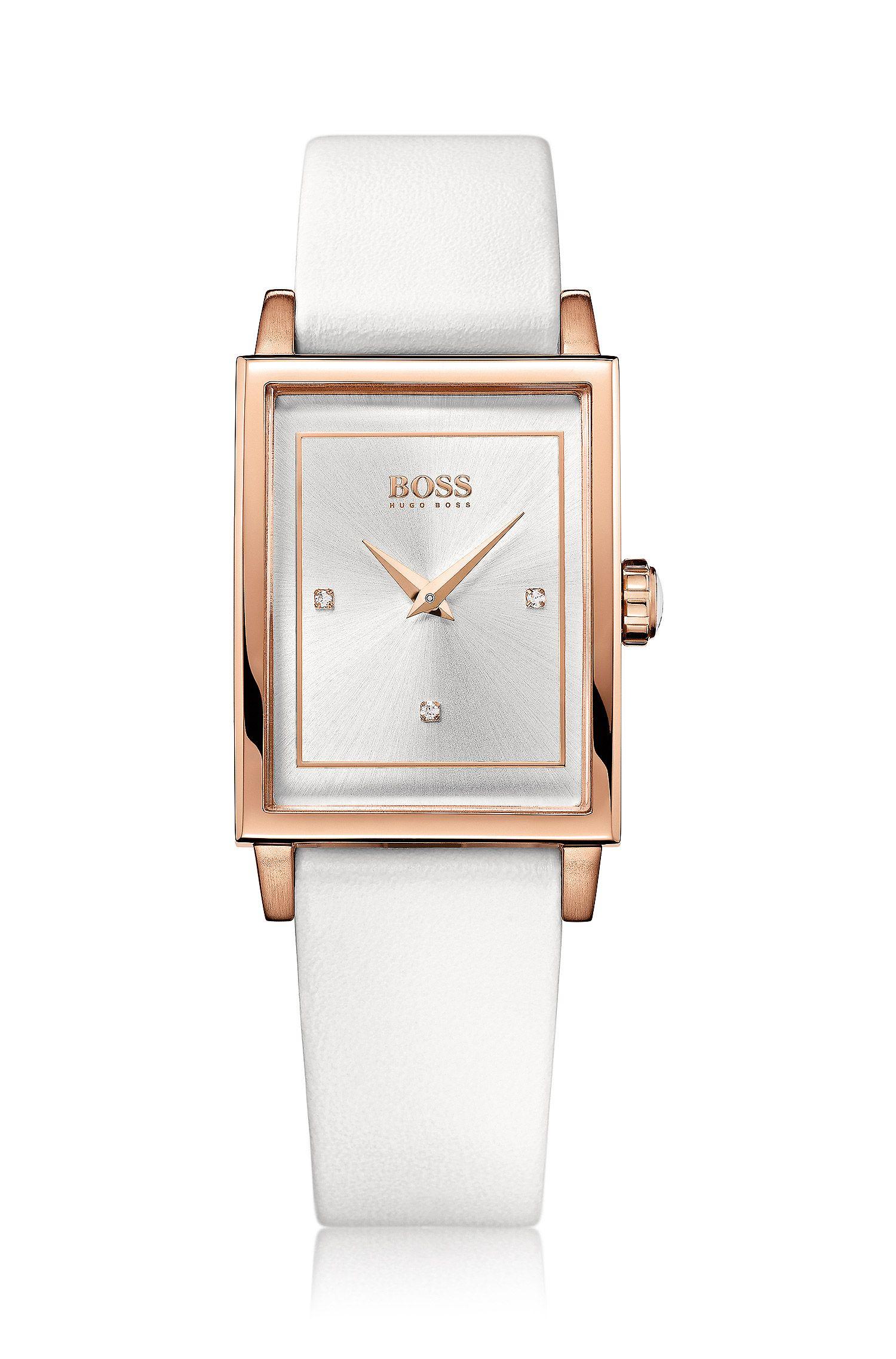 Montre pour femme «HB6009» à bracelet en cuir