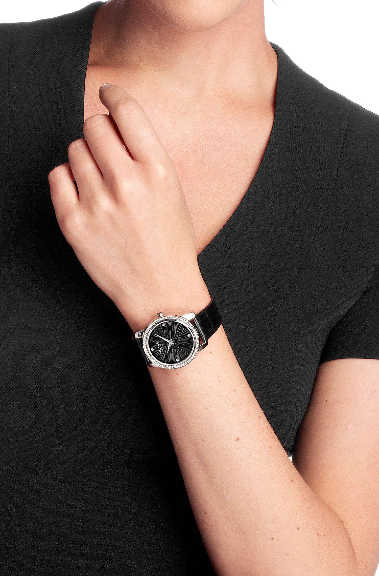 Montre femme à bracelet en cuir, HB6011