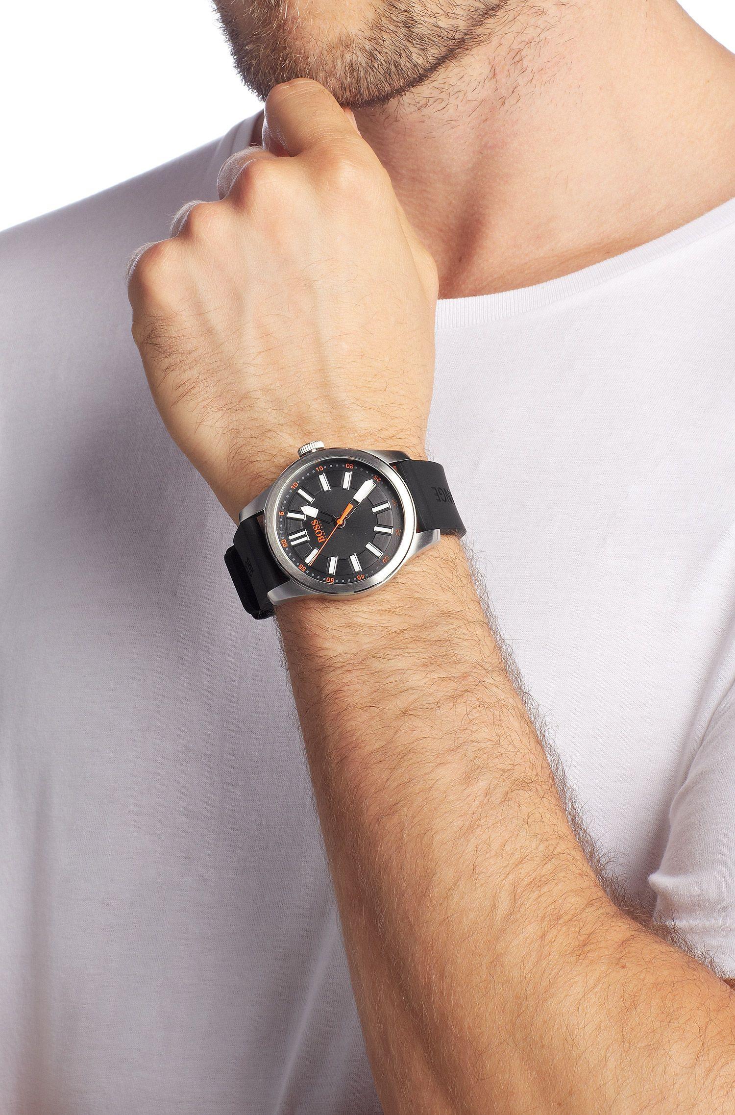 Montre homme à bracelet en silicone, HO7001