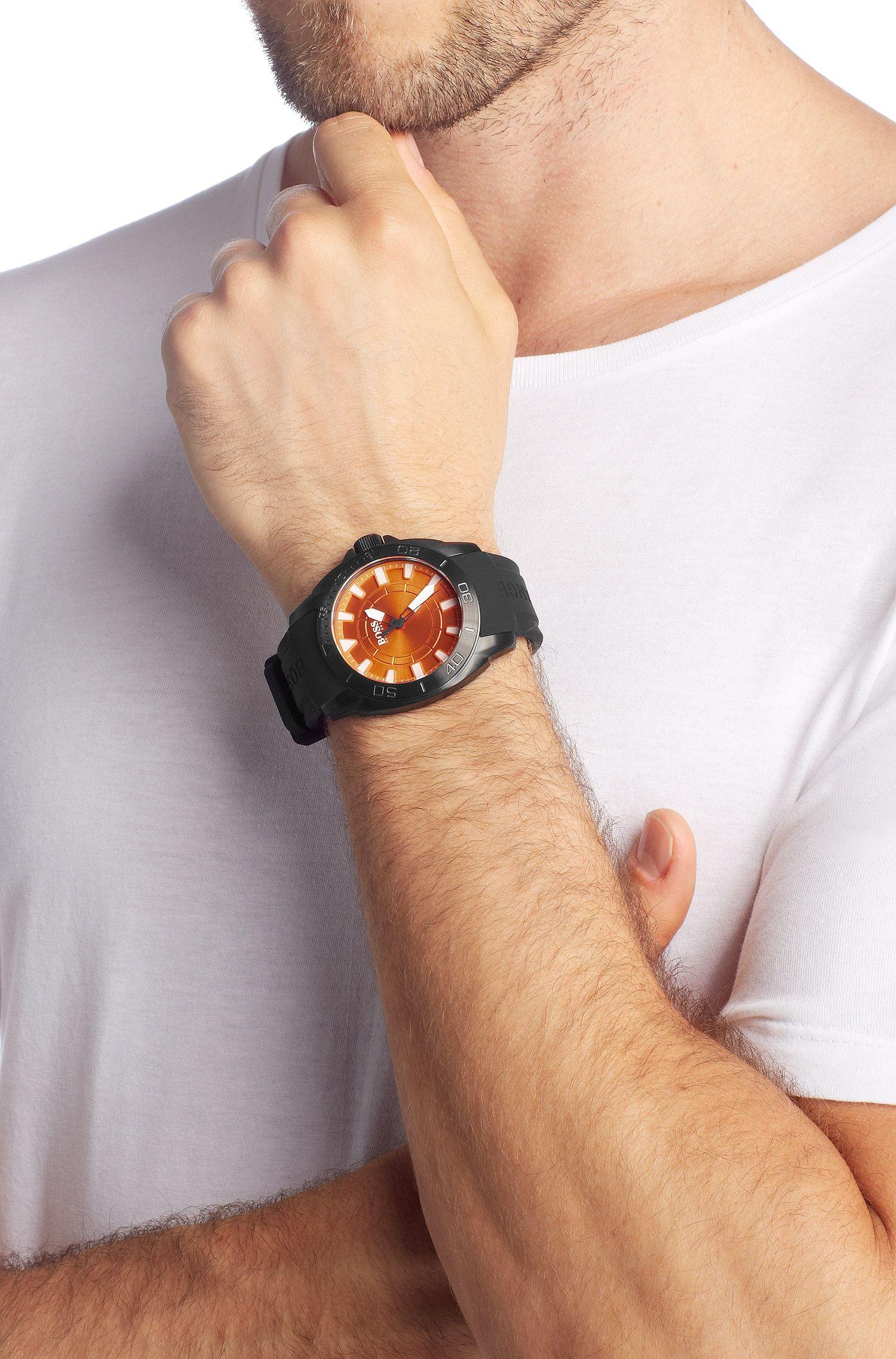 Montre homme à bracelet en silicone, HO7006