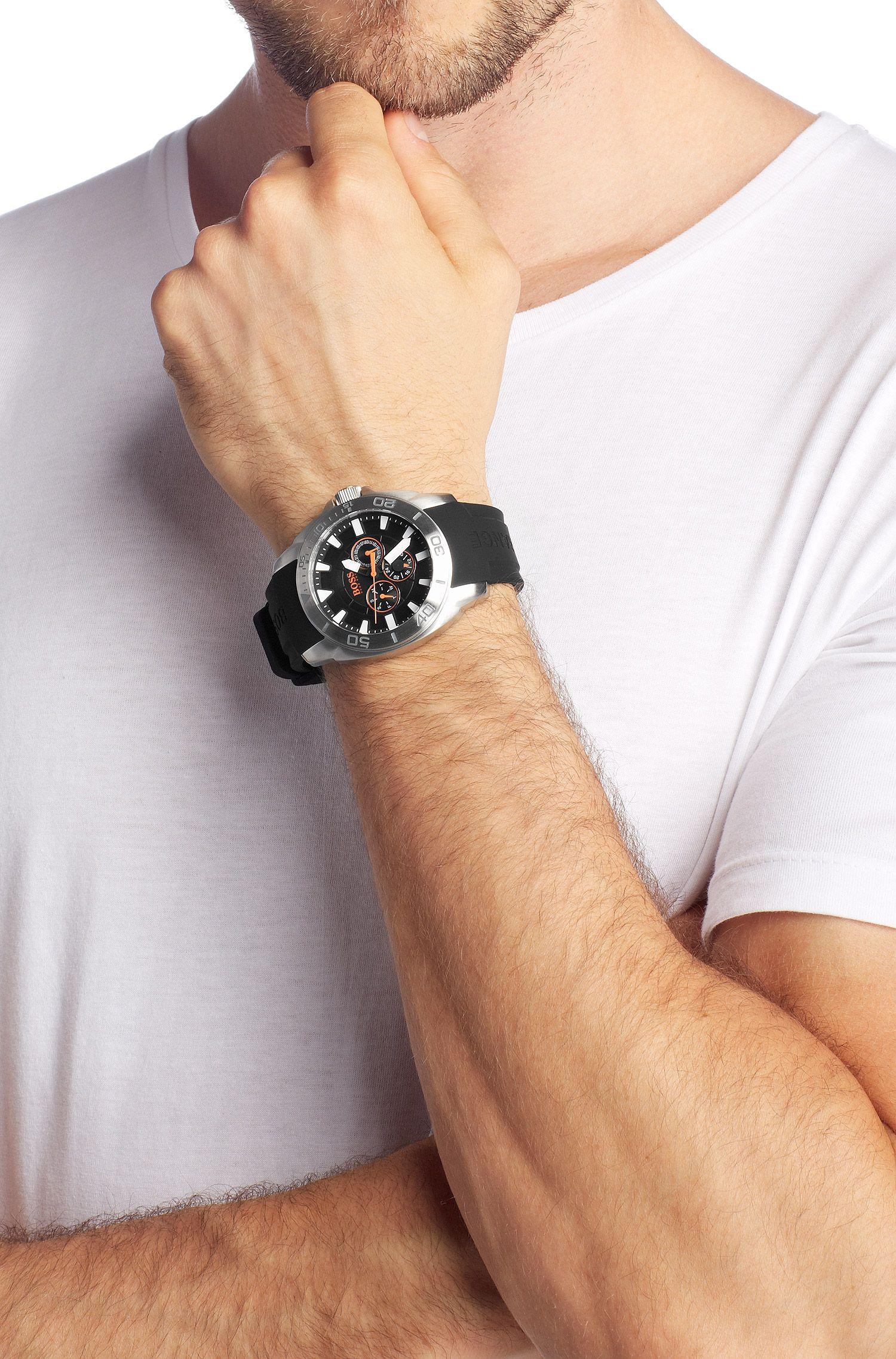 Montre homme à bracelet en silicone, HO7007