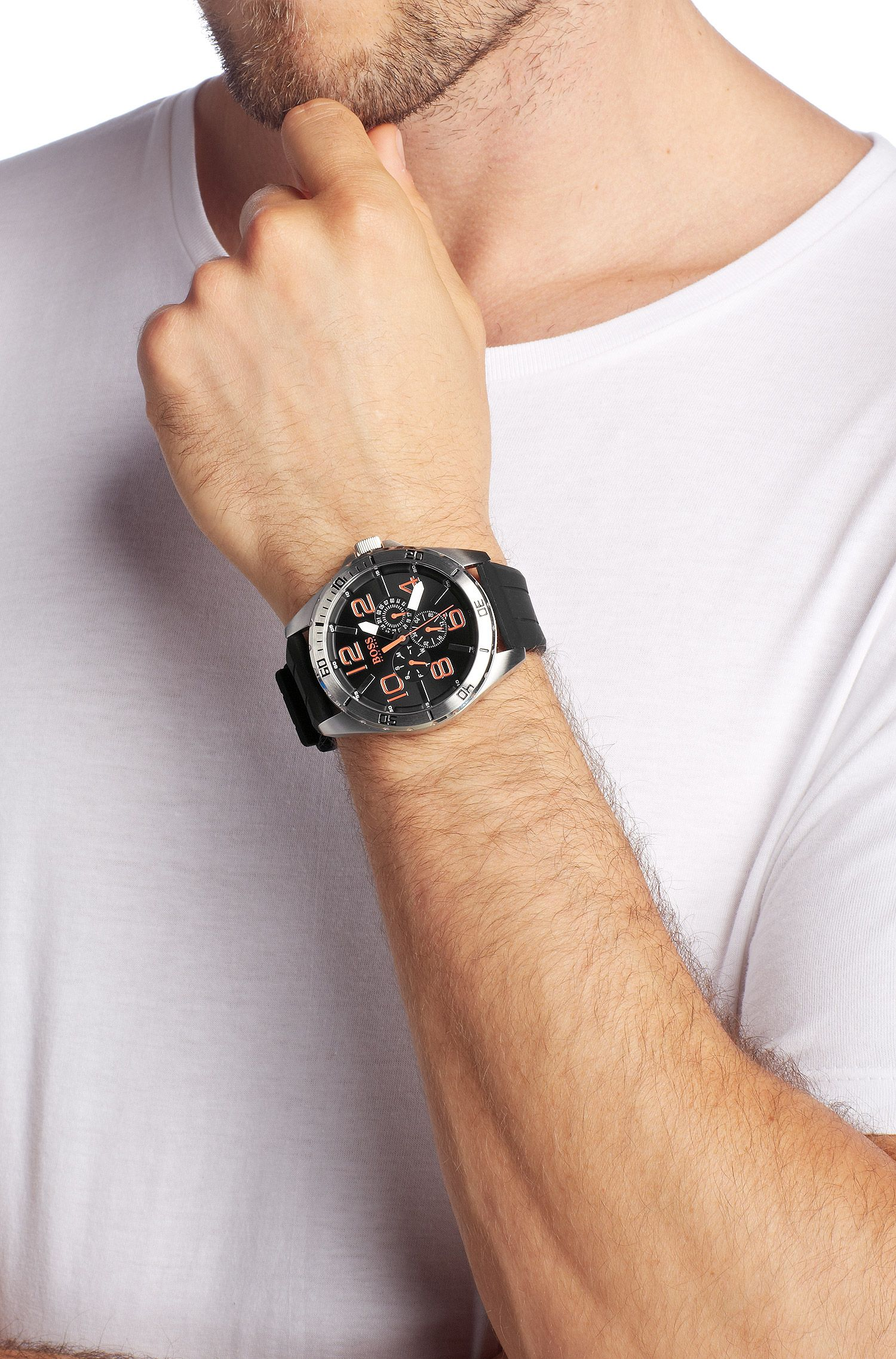 Montre homme à bracelet en silicone, HO7005