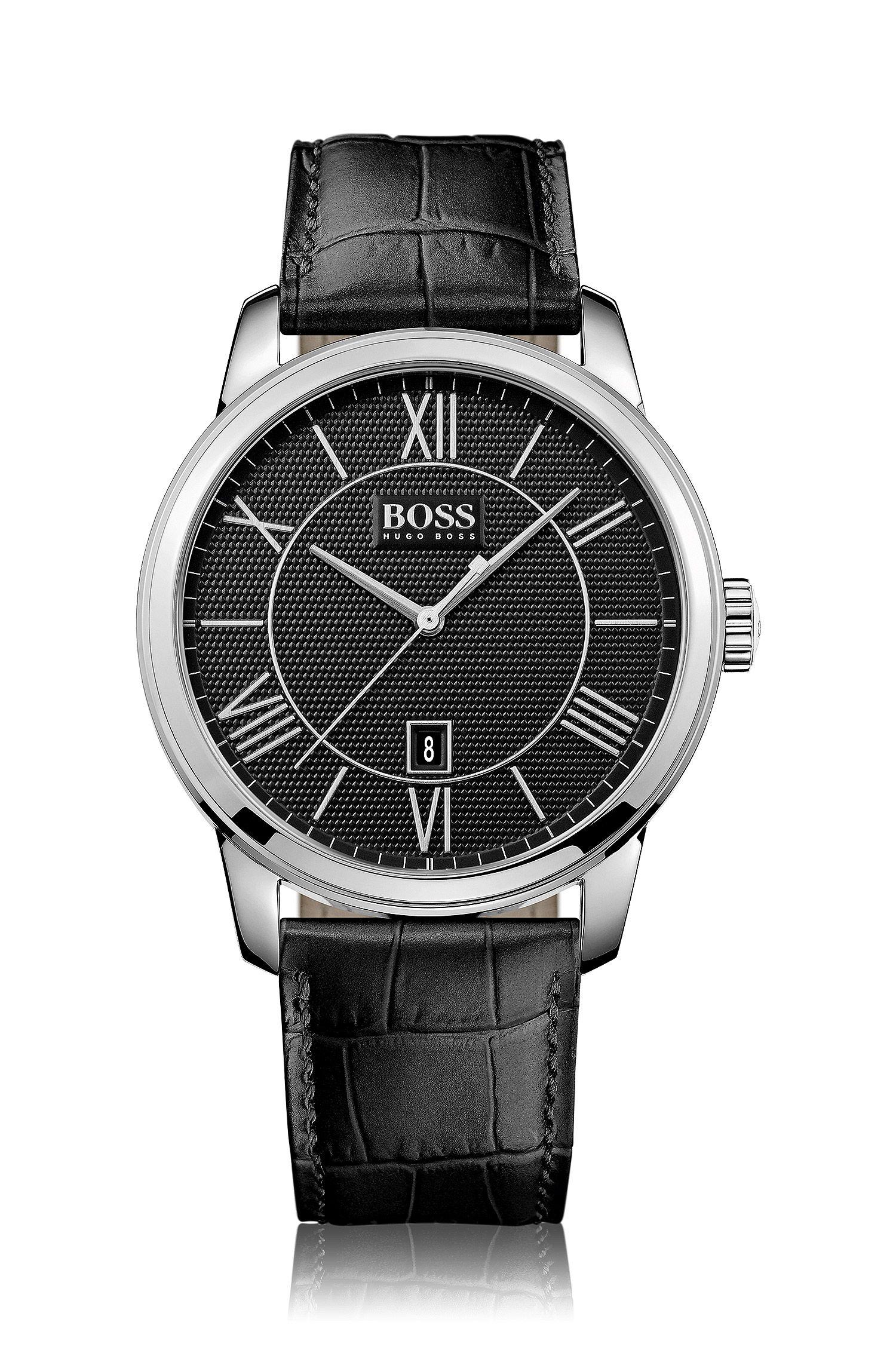 Montre-bracelet «HB6024» avec boîtier en acier inoxydable