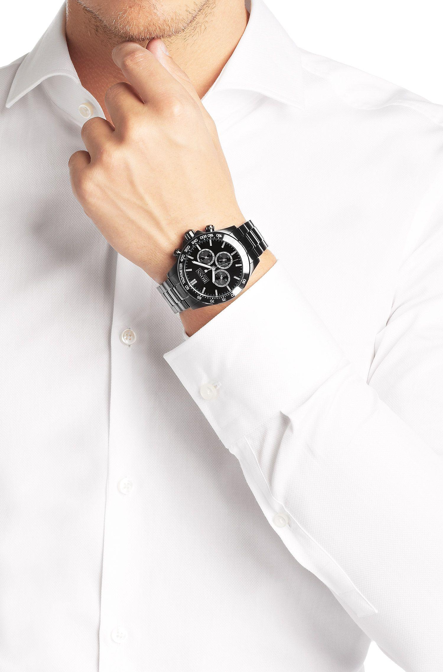 Chronograph ´HB6030` aus schwarzem Edelstahl