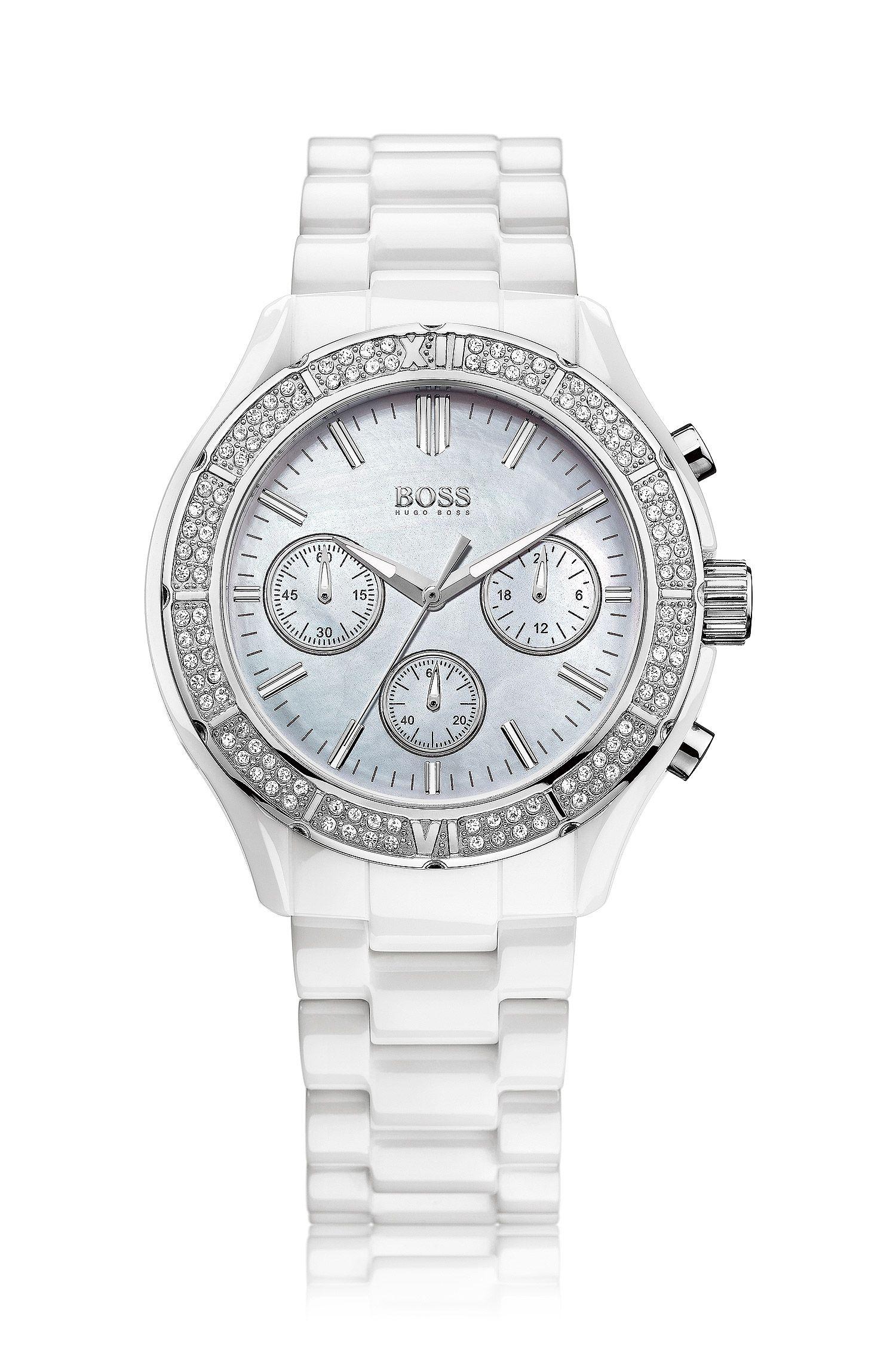 Montre chronographe «HB6031», boîtier cristal en céramique.