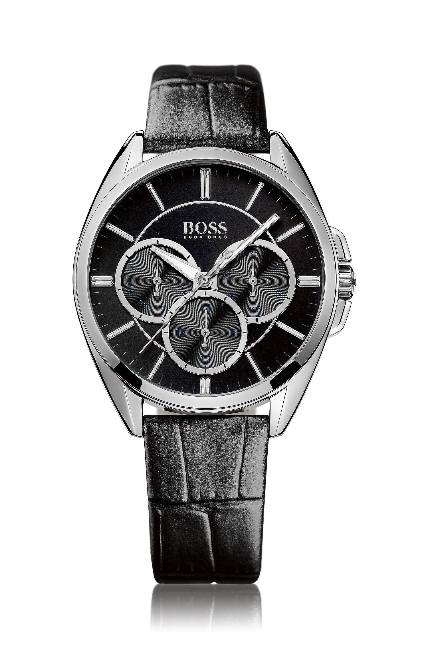 Horloge 'HB6037' met leren band