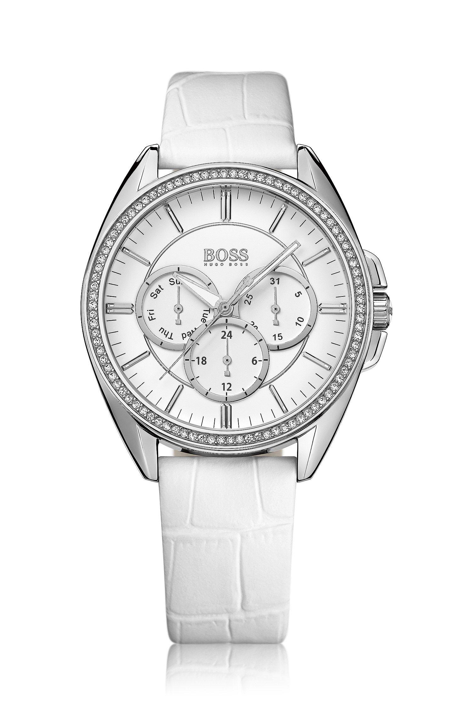 Montre-bracelet «HB6037», bracelet en cuir finition croco