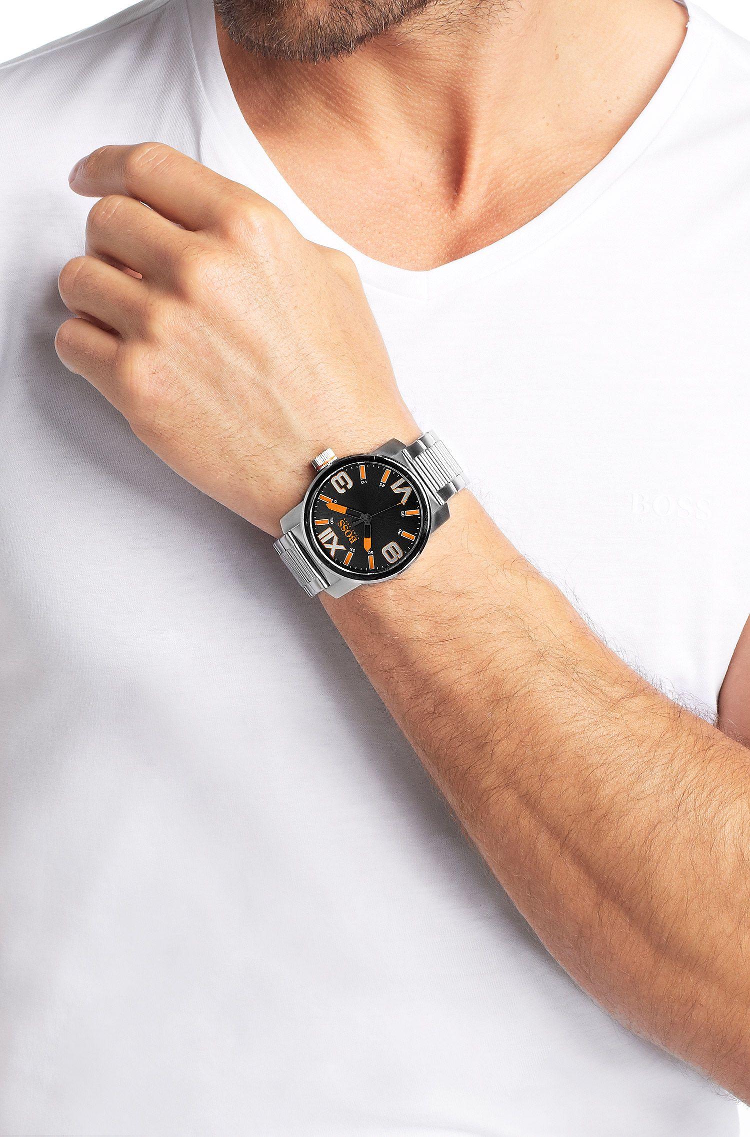 Montre-bracelet «HO7004» en acier inoxydable noir