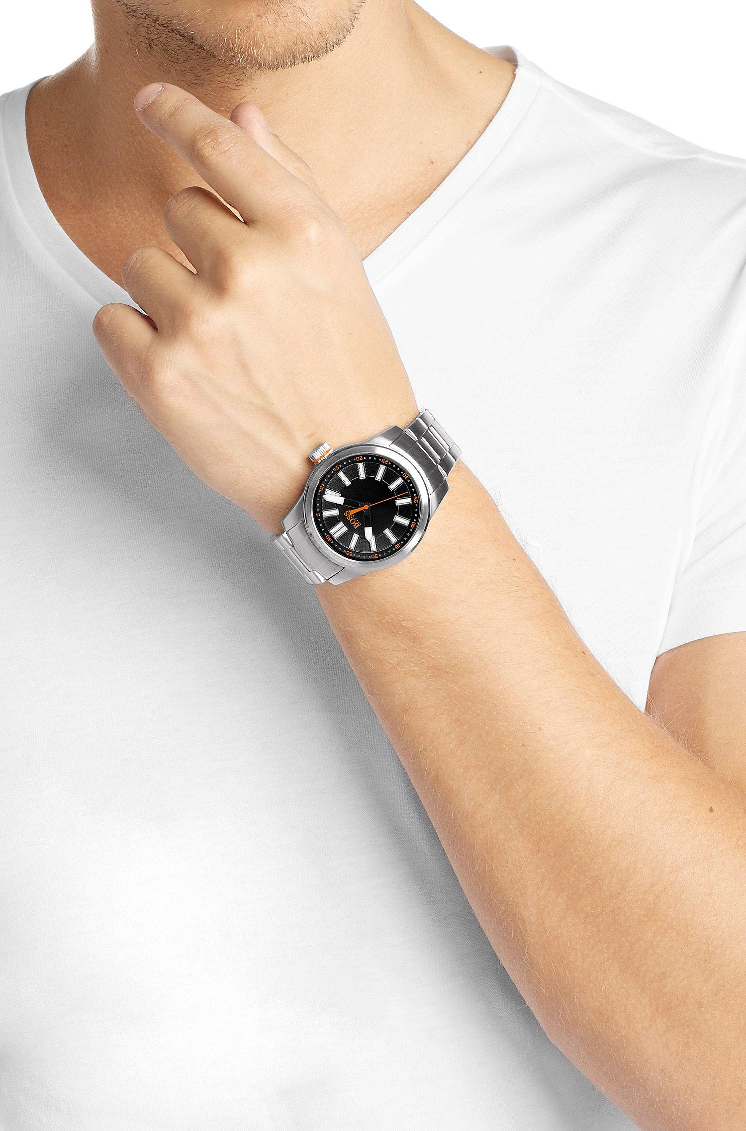 Montre-bracelet «HO7001» en acier inoxydable avec mouvement à quartz