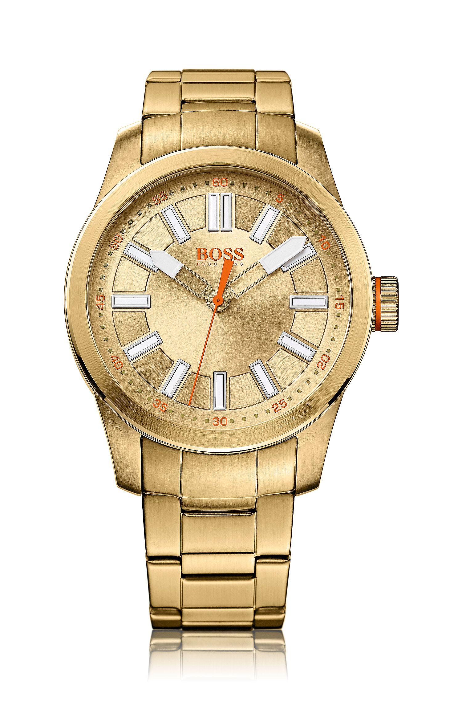 Montre-bracelet «HO7001» en acier inoxydable finition dorée