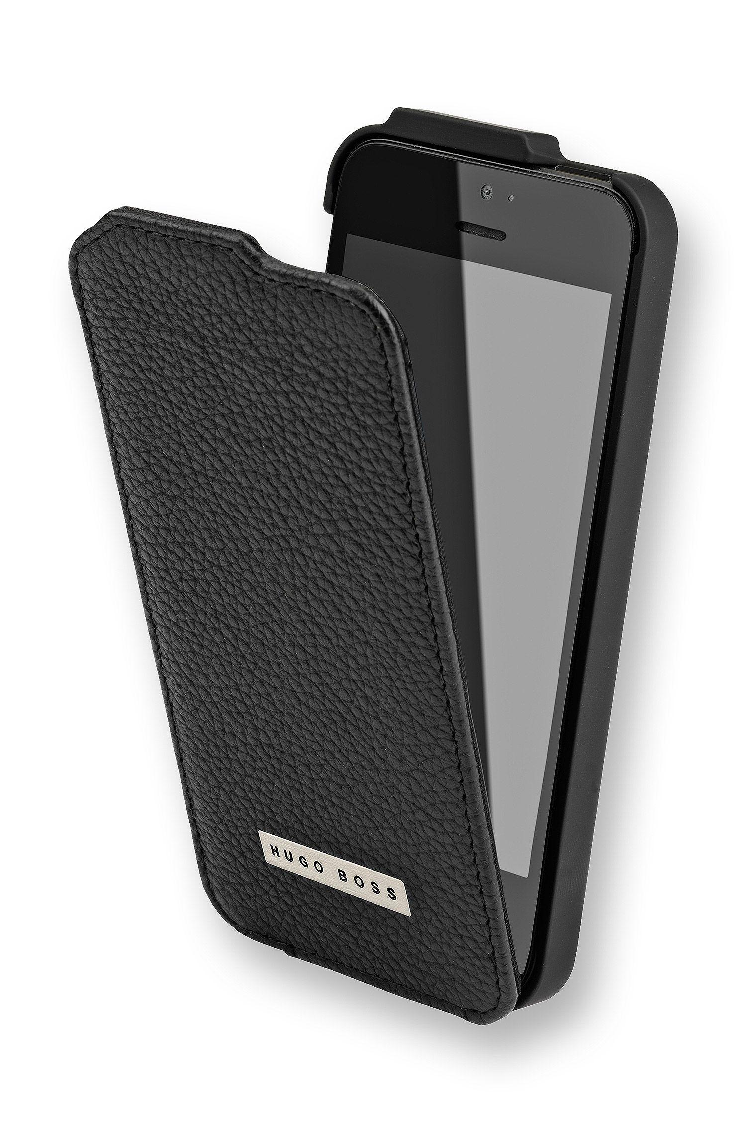 Étui à rabat «ReflexIP5» en cuir pour iPhone 5/5s