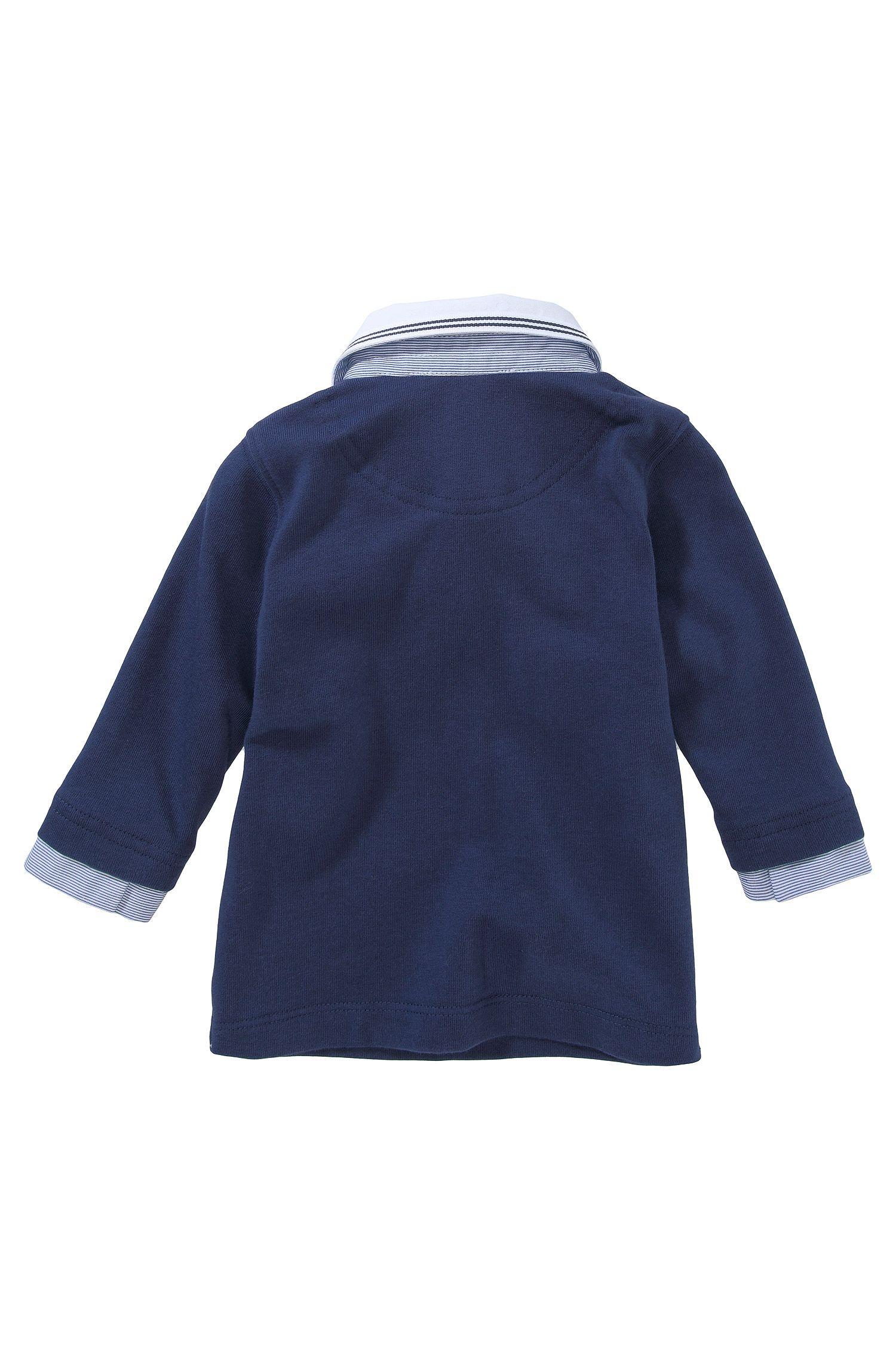 Kids Longsleeve Polo ´J05258/828` aus Baumwolle