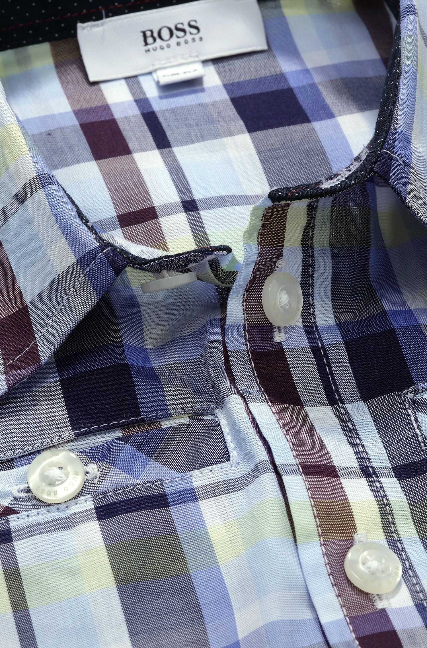 'J05294' | Toddler Cotton Check Button Down Shirt