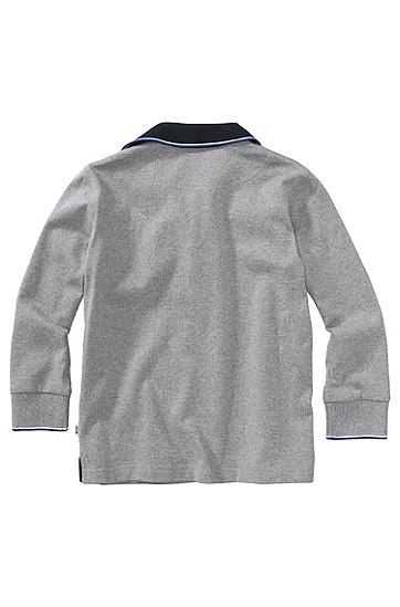 Kids Longsleeve-Polo ´J25546/A30` aus Baumwolle, Grau