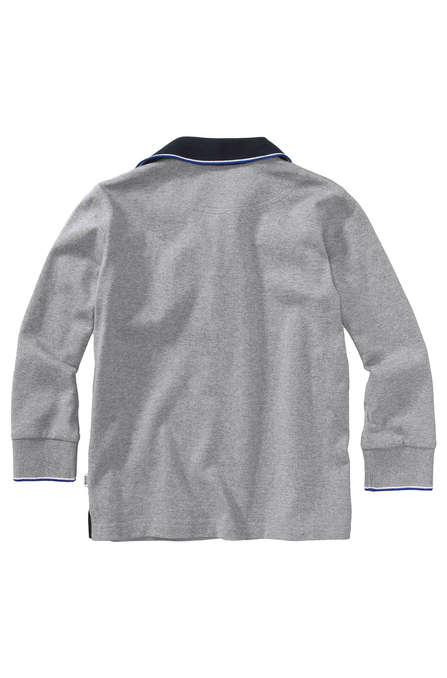 Polo à manches longues pour enfant «J25546/A30» en coton