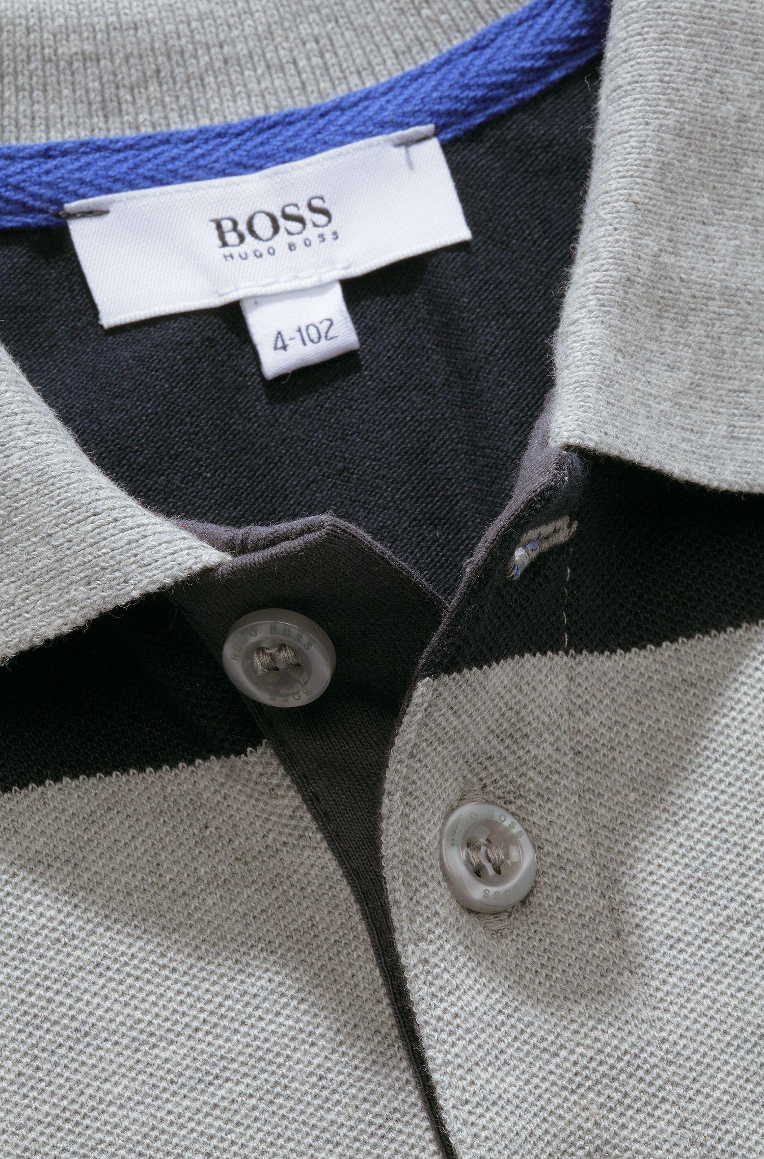 Polo à manches longues pour enfant «J25574/A30» en maille piquée
