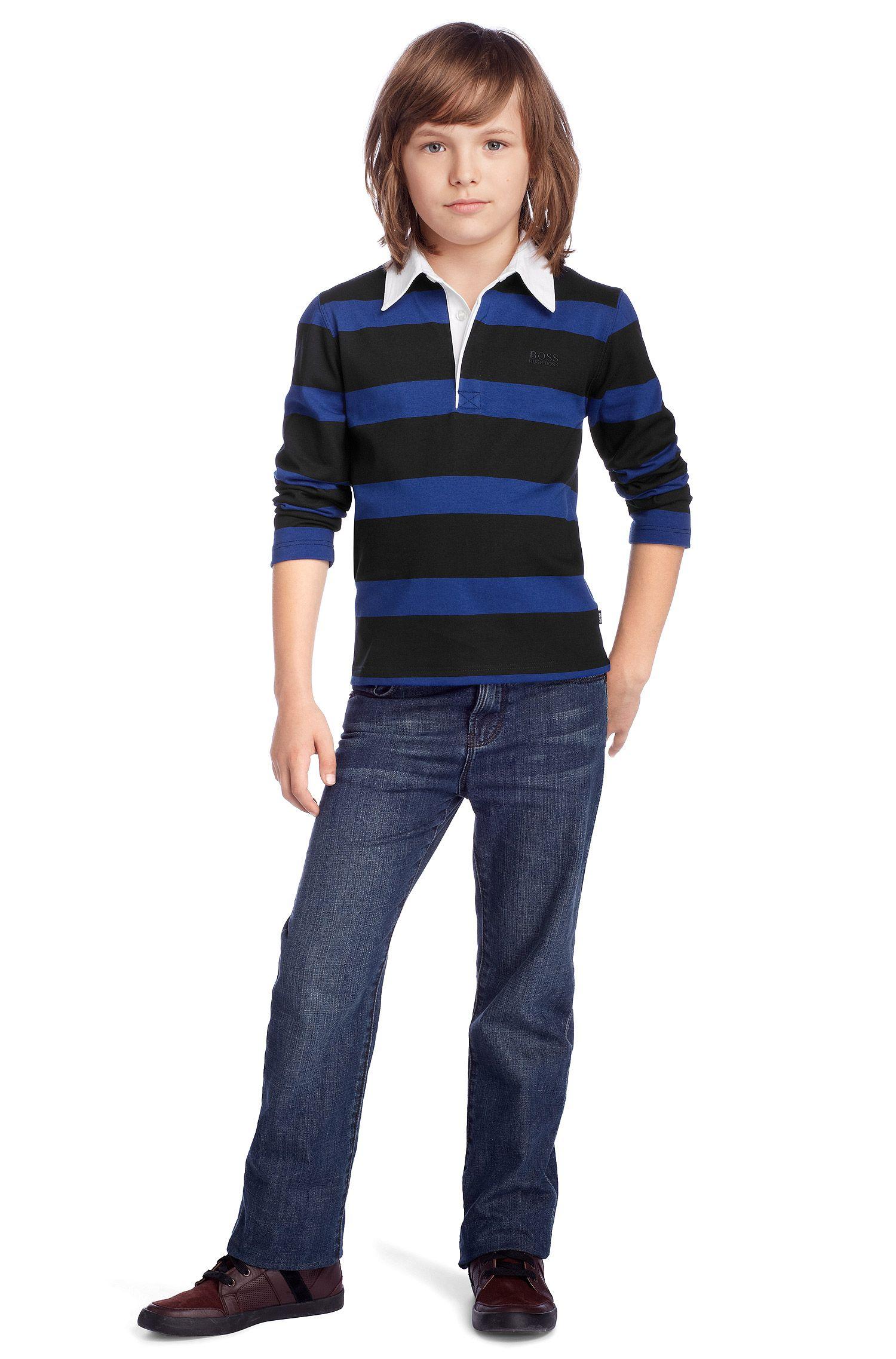 Kids Longsleeve-Polo ´J25603/862` aus Baumwolle