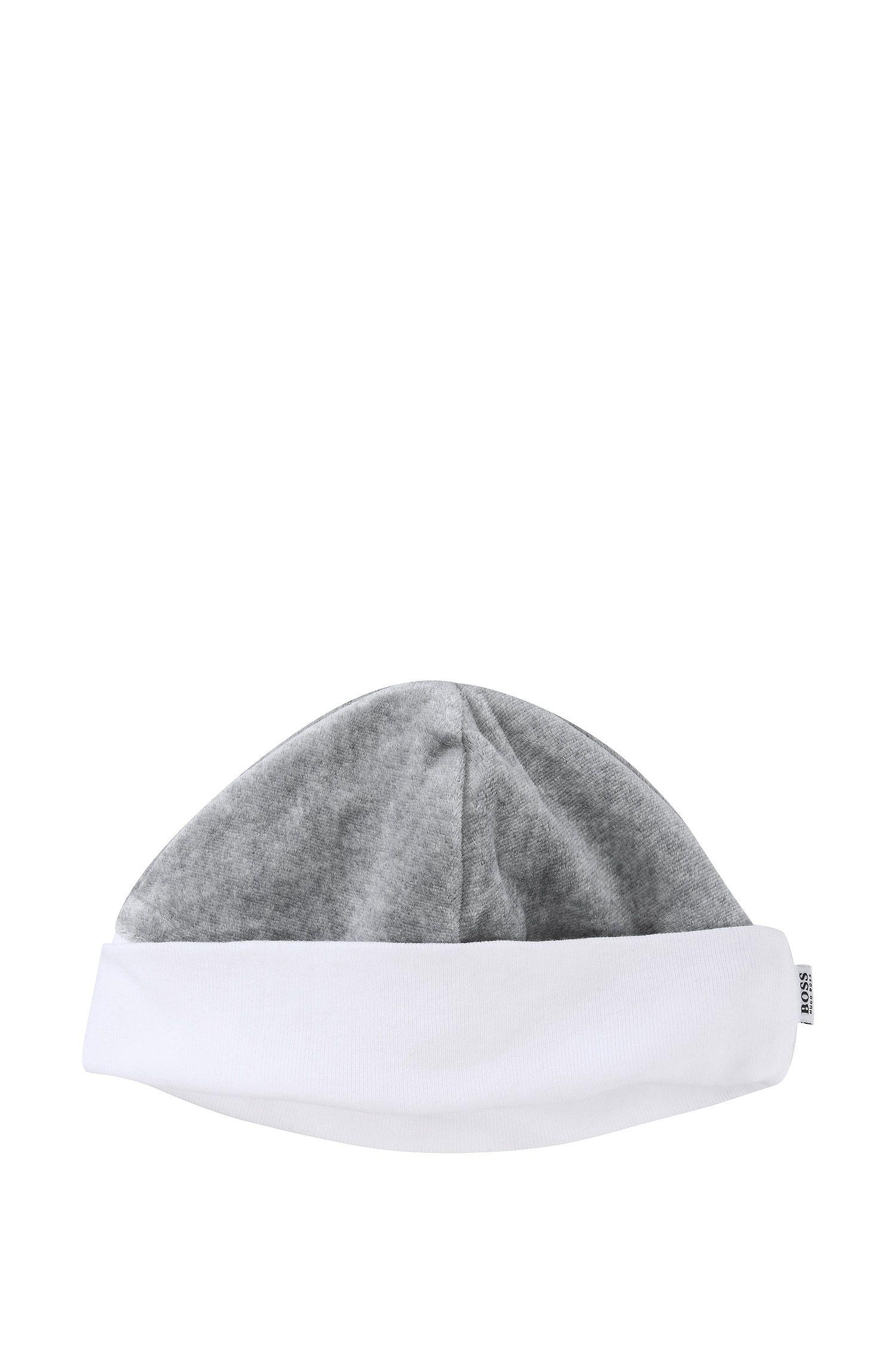 Bonnet réversible pour bébé «J91031» en coton mélangé