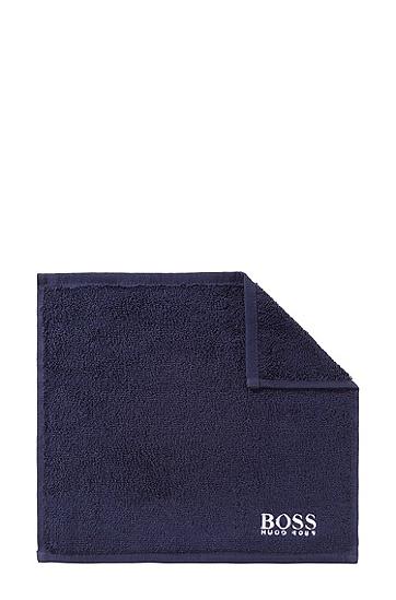 Carré de toilette «PLAIN» , Bleu foncé