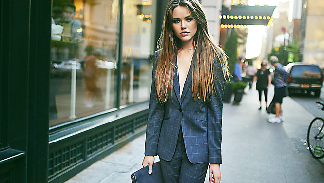 Kristina Bazan on the streets of Manhattan