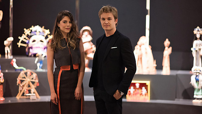 Nico Rosberg with model and TV presenter Lety Sahagún