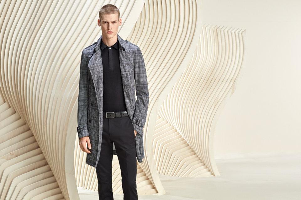 Grey coat for men byBOSS