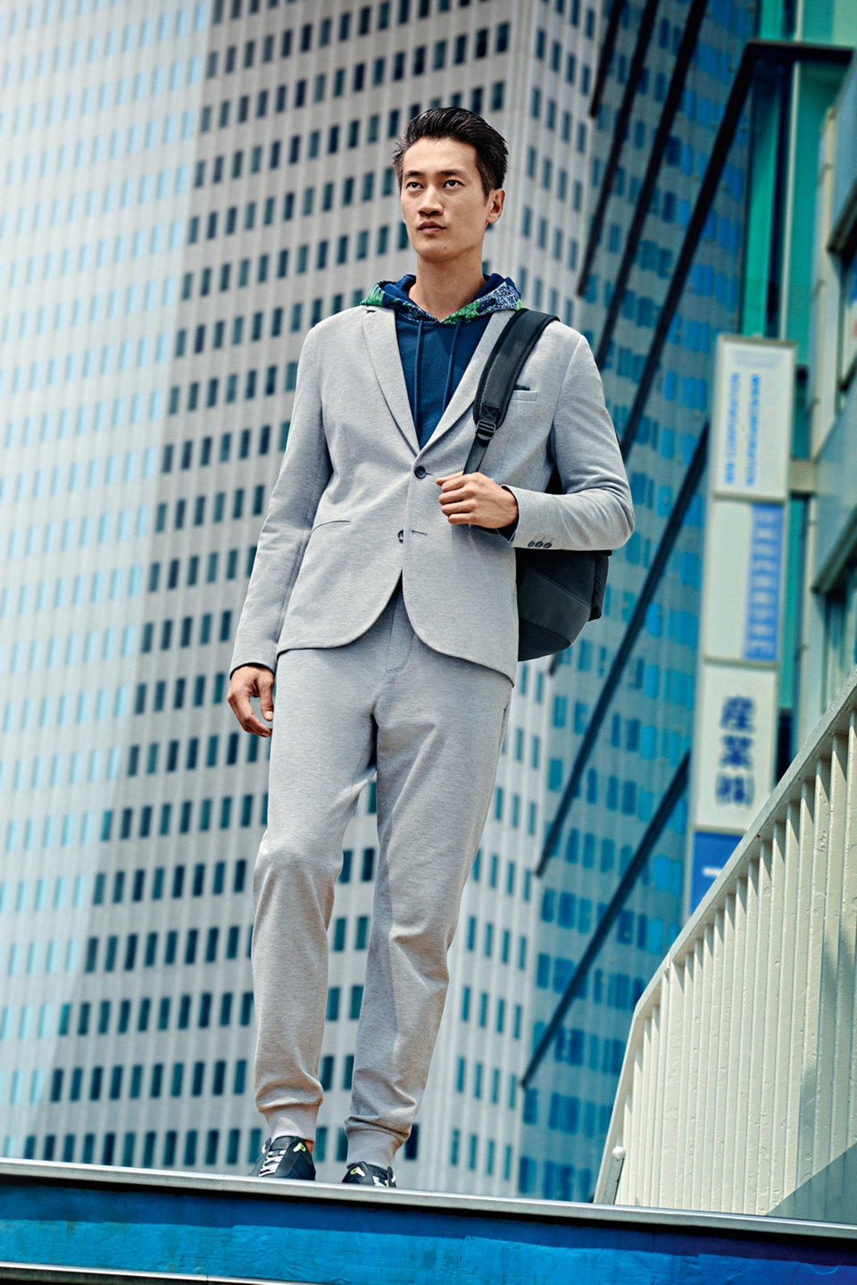 Grey jacket and trousers by BOSS Green