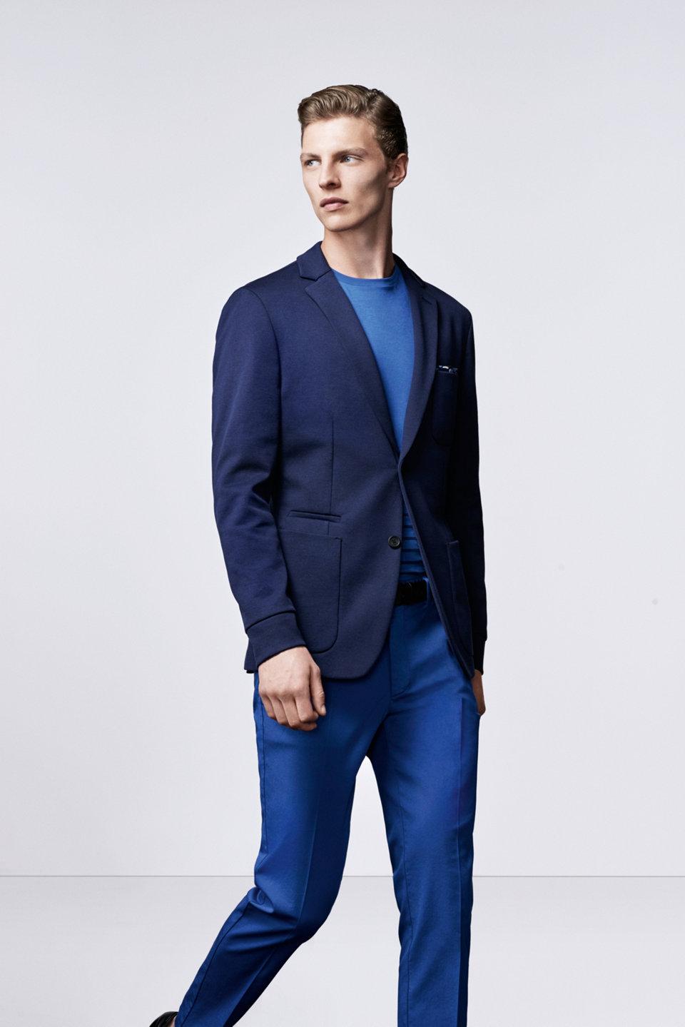 Blauwe colbert, trui en broekvanBOSS