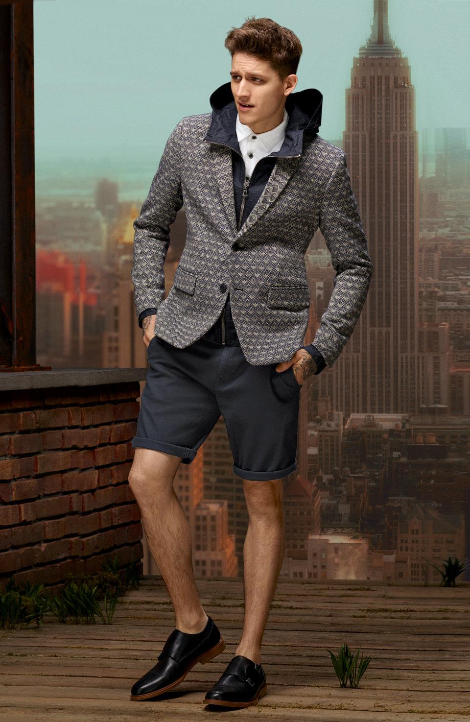 Dark jacket, dark outerwear and white polo shirt byBOSSOrange
