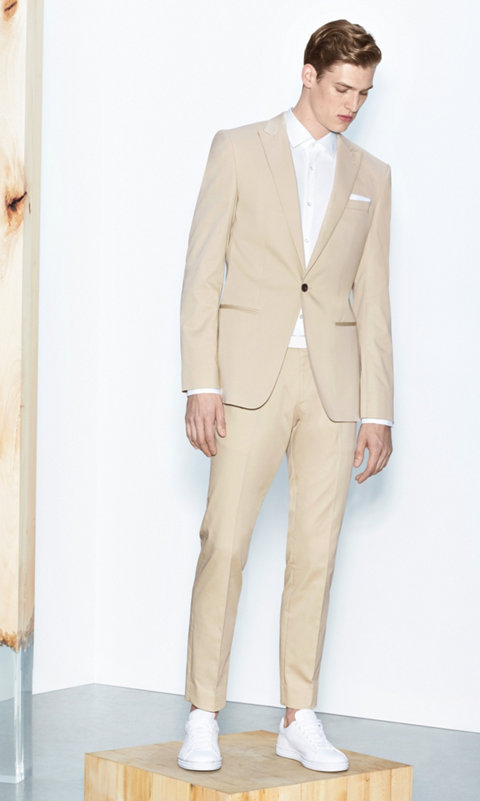 Beige suit by BOSS