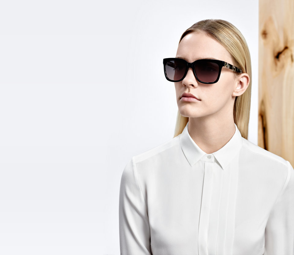 BOSS Bluse in Weiß