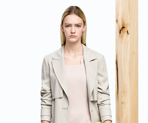 Trench beige clair pour femme BOSS