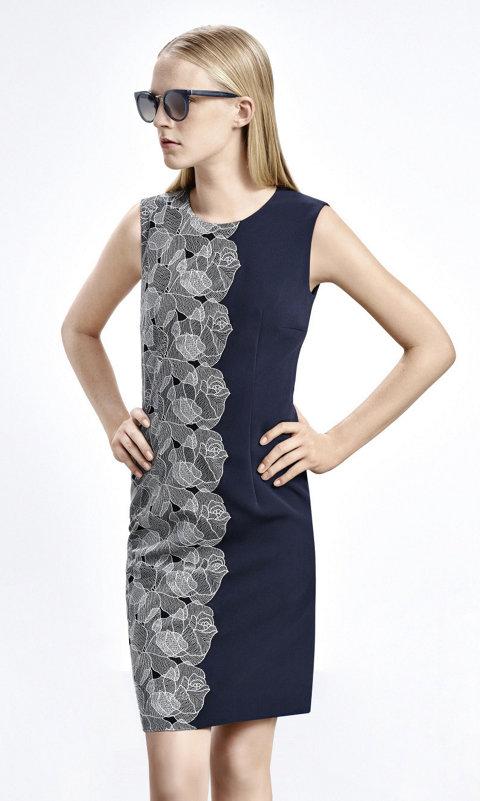 Patterned dress by BOSS