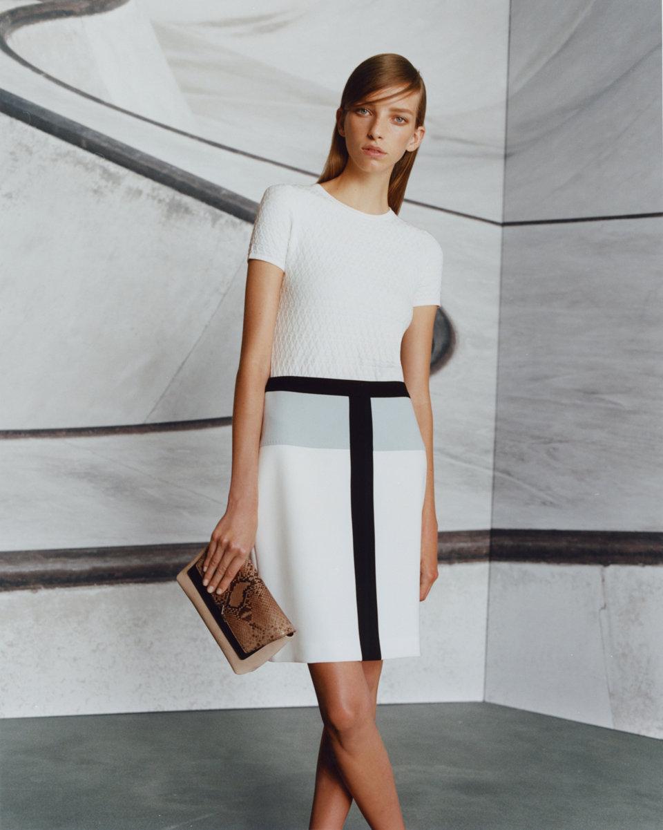 White t-shirt and white skirt byHUGO