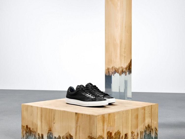 Black sneaker with white sole from HUGO BOSS menswear.