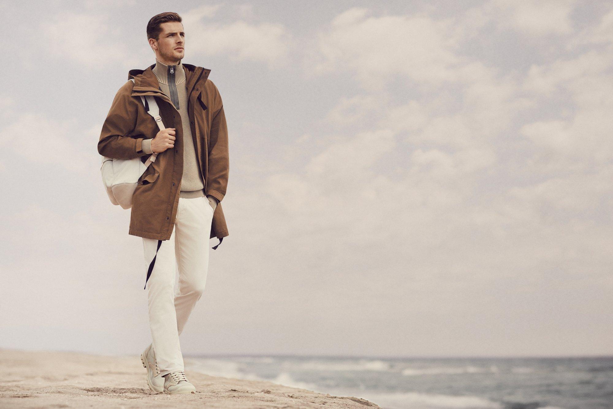 休闲风范<br/><br/>BOSS雅致的着装主义:宽松的外套、牛仔裤和针织服装展示时髦的着装时刻