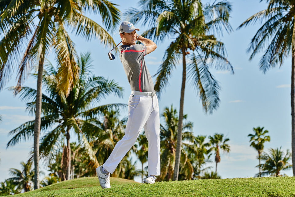 Quality and style are combined with technical fabrics, designed to maximise your golf performance. Explore the range by BOSS Green for game ready polo shirts