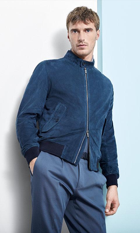 Blauwe jas en broek van BOSS