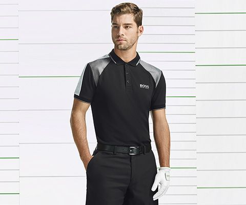 BOSS Green Premium Golf black T-shirt and shorts