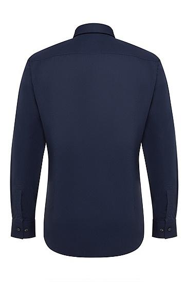 窄肯特领修身商务衬衫,  413_海军蓝色
