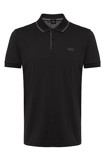 男款商务休闲短袖Polo衫,  001_黑色