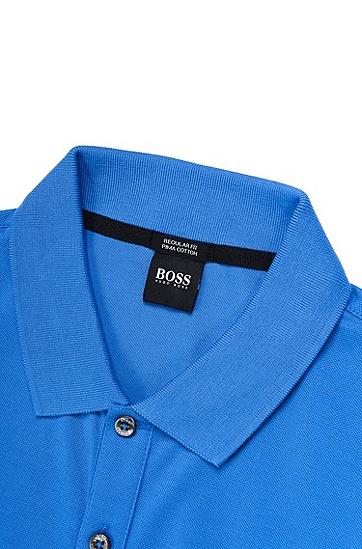 凸纹布常规版Polo衫,  420_中蓝色