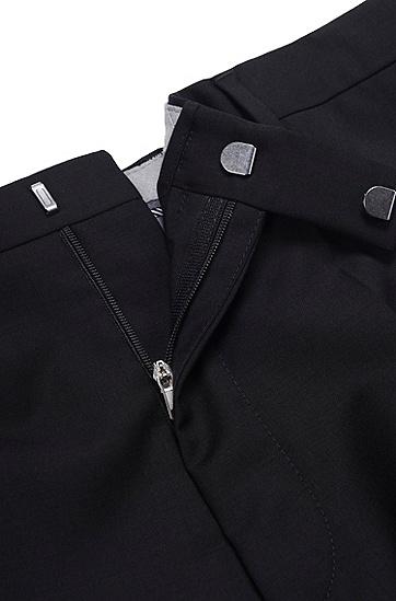 男士修身羊毛西裤'Shark8 ',  001_黑色
